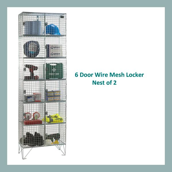 6-Door-Wire-Mesh-Locker-Nest-of-2