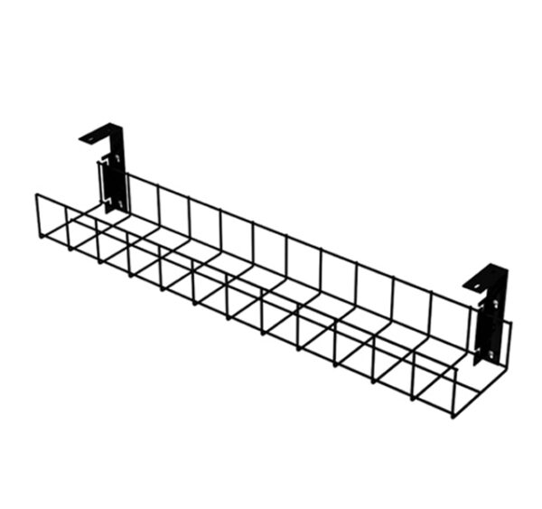 Black Cable Tray with Small Brackets by AMP Wire Ltd