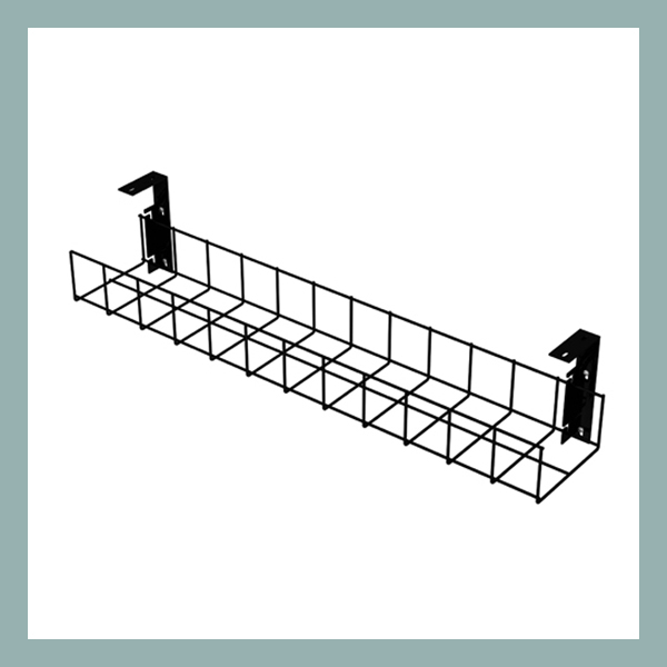 Cable-Tray-with-Small-Brackets-in-Black