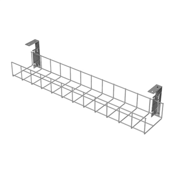 Silver Cable Tray with Small Brackets by AMP Wire Ltd