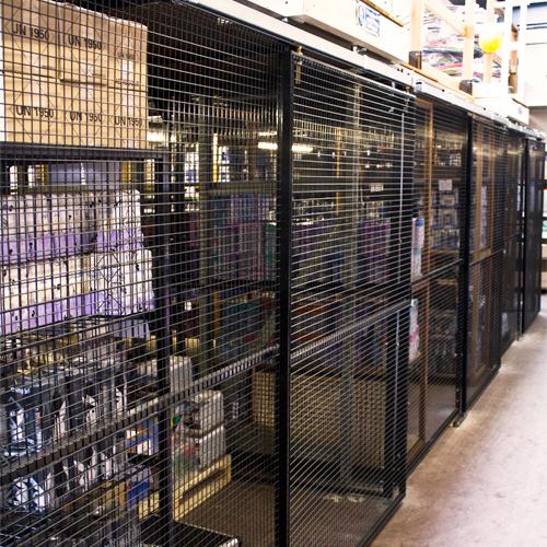 Under Mezzanine Storage with Sliding Doors