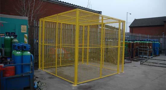 Wire Mesh Gas Cylinder Storage Cage