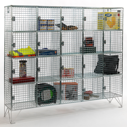 Wire Mesh Multi Compartment Lockers for Secure Storage
