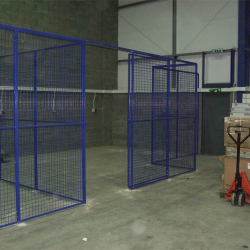 Wire Mesh Partition with Sliding Doors