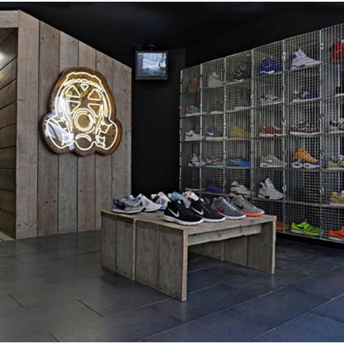 Wire Mesh Shoe Display Lockers
