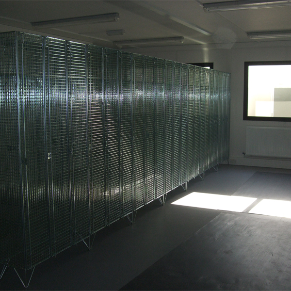 1 Door Wire Mesh Lockers Back to Back