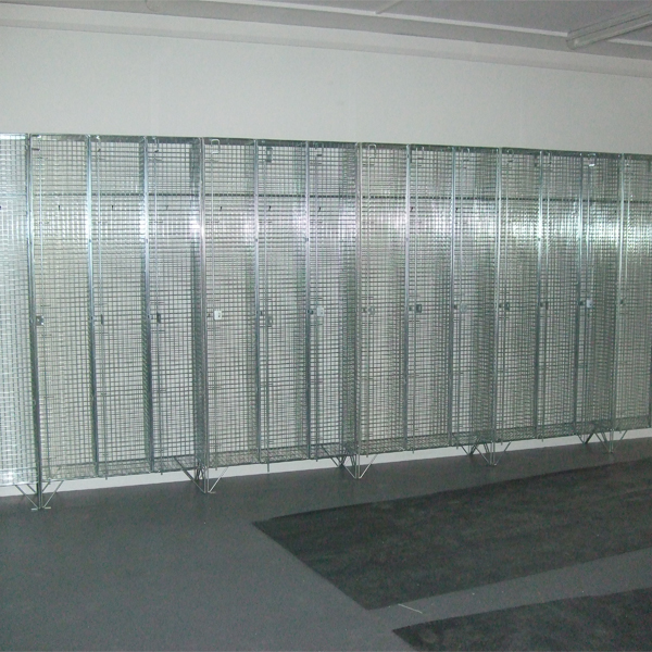 1 Door Wire Mesh Lockers Nested
