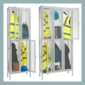2-Door-Heavy-Duty-Wire-Mesh-Locker