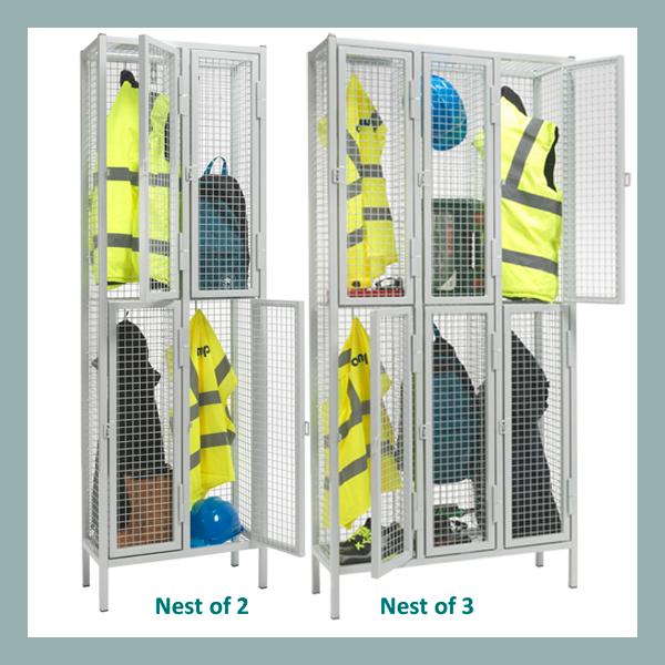 2-Door-Heavy-Duty-Wire-Mesh-Locker-Nest