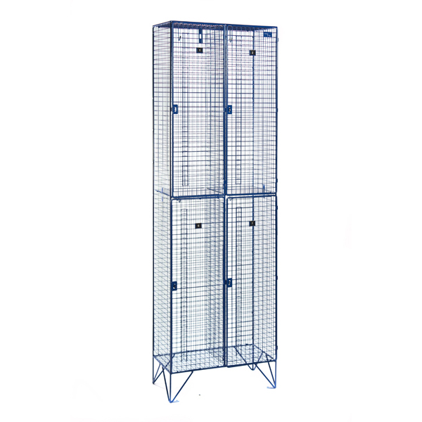 2 Door Nest of Two Wire Mesh Lockers for BBC