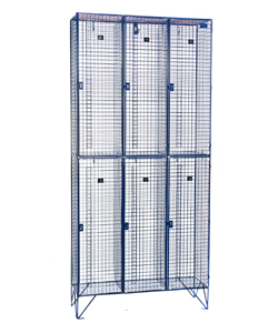 2 Door Wire Mesh BBC Lockers