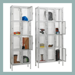 4-Door-Heavy-Duty-Wire-Mesh-Locker