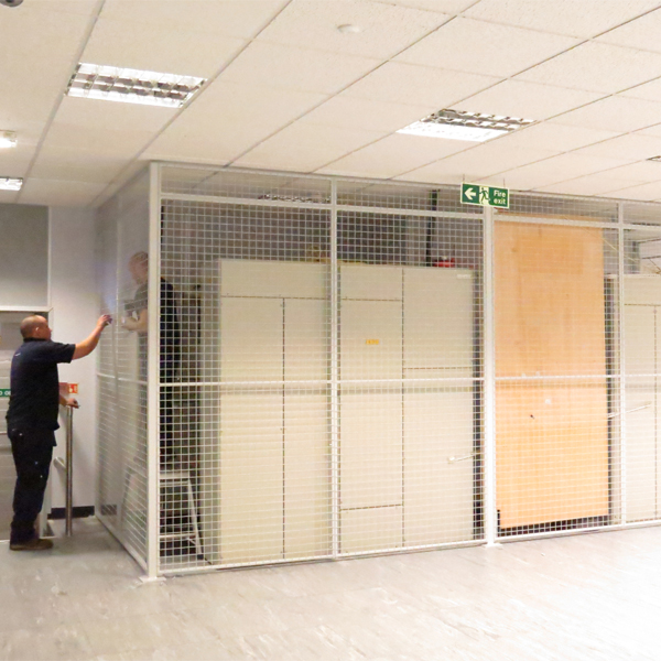 AMP Wire Installing Our Partitions at Data Centre