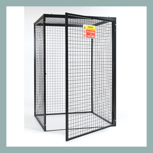 Black-Powder-Gas-Cylinder-Cage-for-9-x-47kg-Cylinders-Open