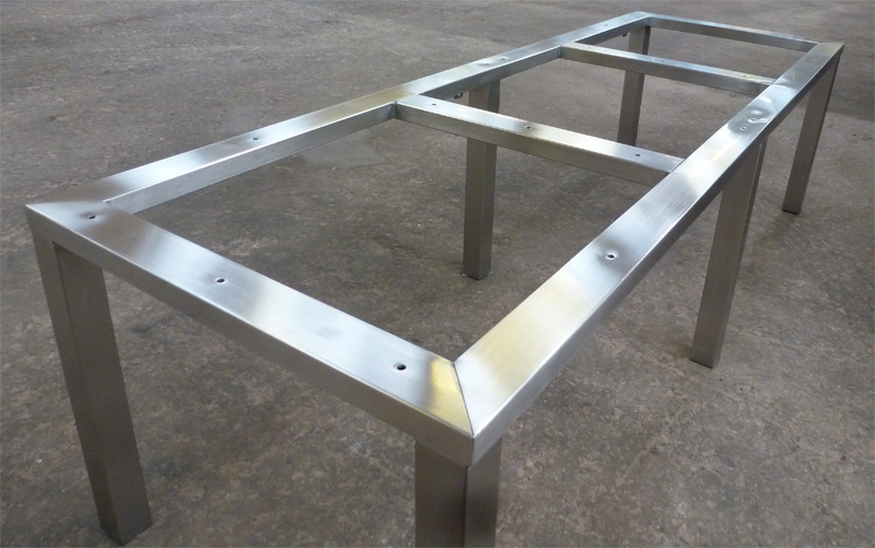 Brushed Stainless Steel Bench Frame