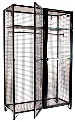 Heavy Duty Wire Mesh Lockers for Emergency Services