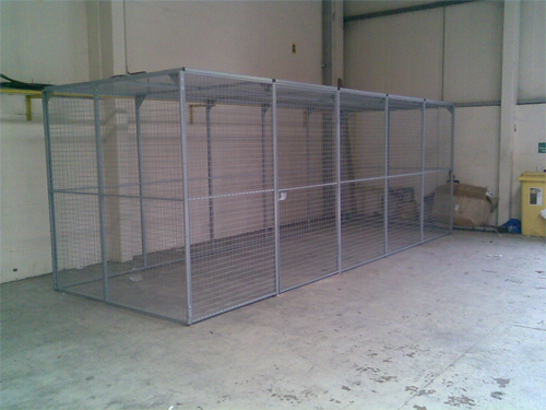 Wire Mesh Enclosure for Shred It Warehouse