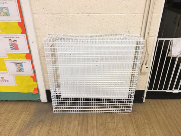 Floor Standing Radiator Guard for Nursery School