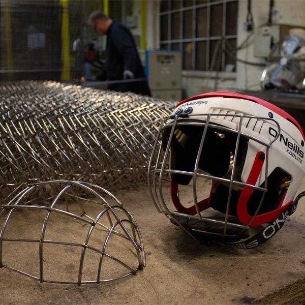Hurling Helmet Face Guard in Production