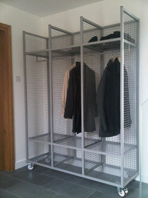 Mobile Cloakroom Storage Unit