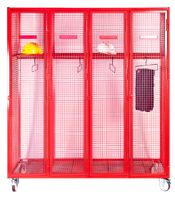 Mobile Fire Service Lockers with Hanging Rail