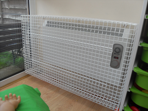 Panel Heater Guard with Cut Out