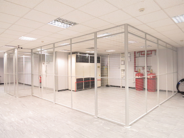 Wire Mesh Partition for Data Centre