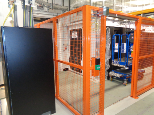 Wire Mesh Partition with mag lock