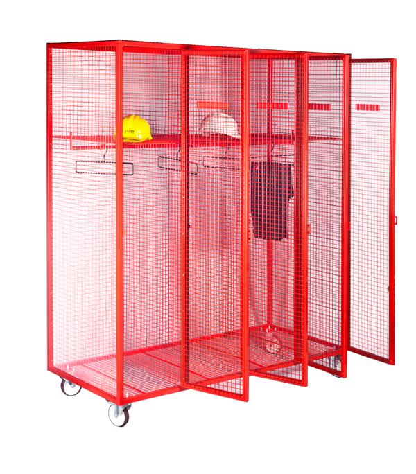 Red Mobile Fire Service Locker