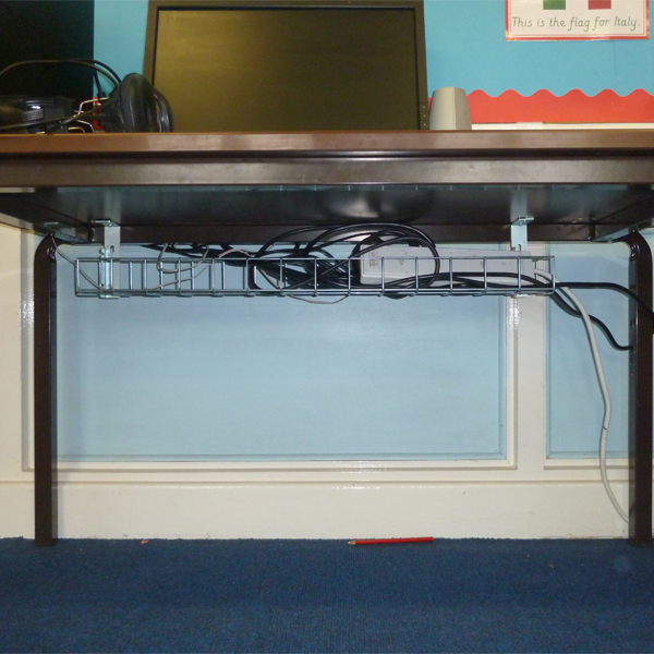 Underdesk-Cable-Trays-Silver