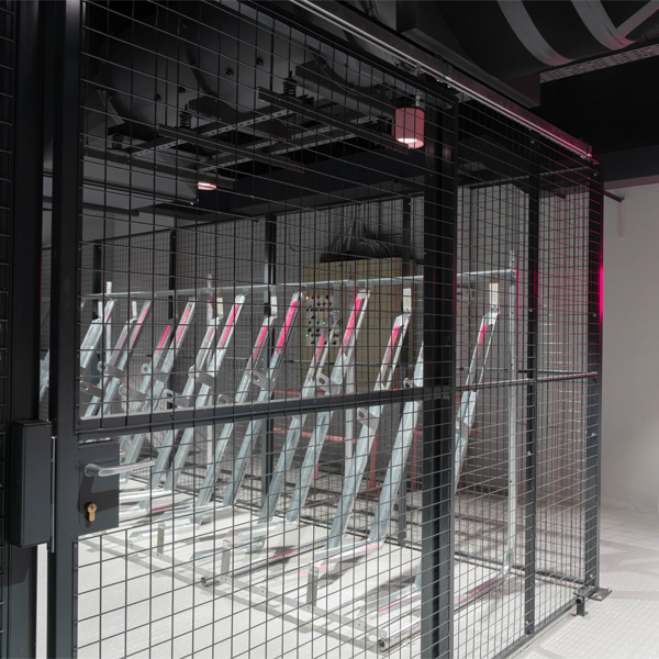 Wire-Mesh-Partition-for-Basement-Cycle-Store
