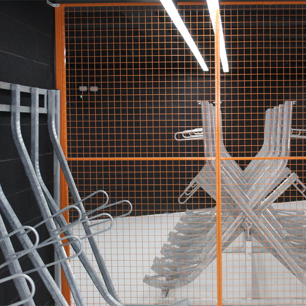 Wire Mesh Partitions for Cycle Store