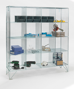 Multi-Compartment-Mesh-Lockers-Without-Doors