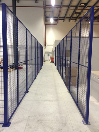 Warehouse Walkway Partition