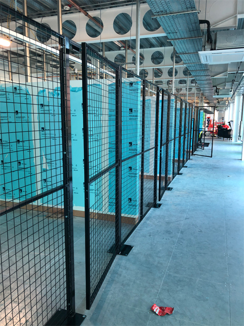 Dividing Mesh Partition System with Single Doors