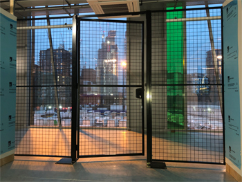 Mesh Partition with Single Door and Thumb Turn Lock