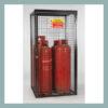 Gas Cylinder Cage for 4 x 47kg Cylinders-Black