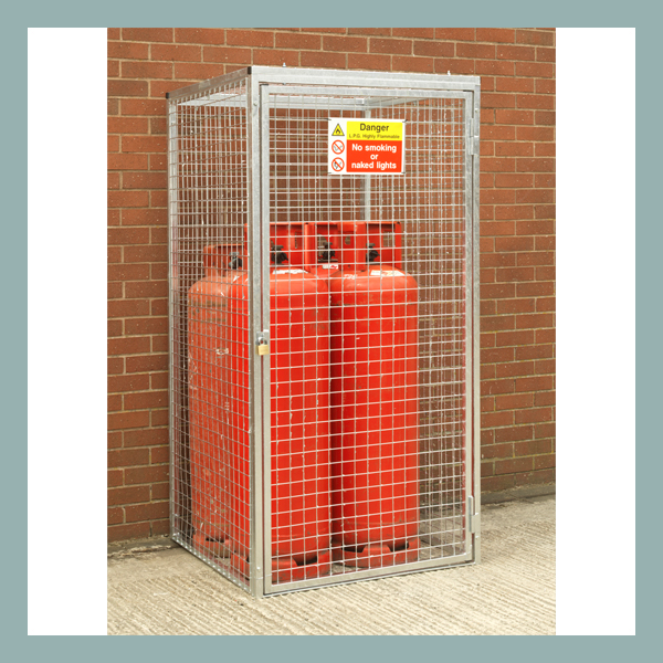 Gas Cylinder Cage for 4 x 47kg Cylinders-HDG