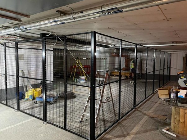 Basement Partition with Double Doors