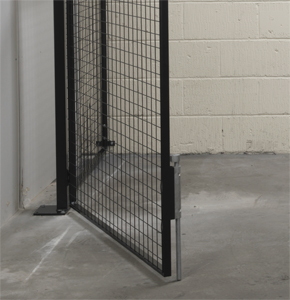 Drop Bolt Locking on Mesh Partitions with Double Doors