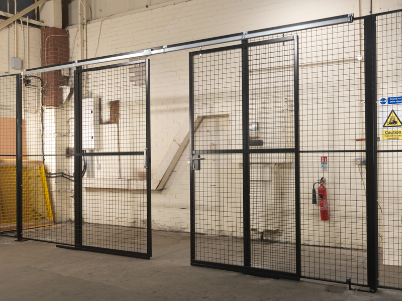 Warehouse Partition with Double Sliding Doors