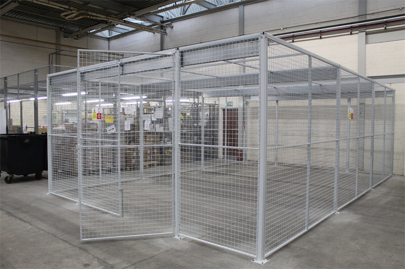 Wire Mesh Enclosure for Medical Waste Bins