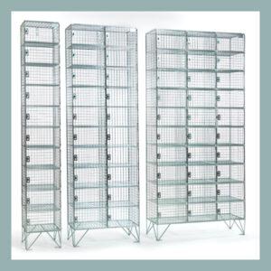 10 Door Wire Mesh Lockers